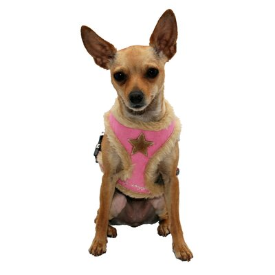 Fur Star Dog Harness Vest in Pink