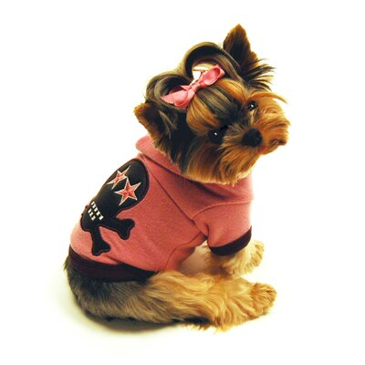 Super Soft Skull Big Dog Hoodie in Pink
