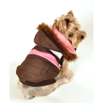 Hip Doggie Urban Ski Dog Vest Version 2 in Brown