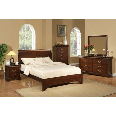 Alpine Furniture West Haven Slat 5 Piece Bedroom Collection