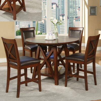 Alpine Furniture Oberlin 5 Piece Counter Height Dining Set