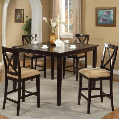 Alpine Furniture Jackson 5 Piece Counter Height Dining Set