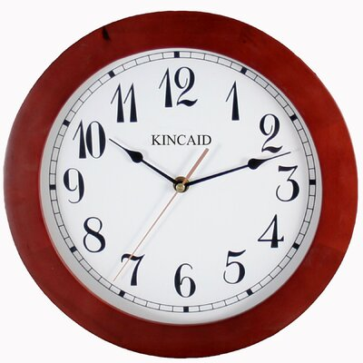 Wall Clock in Cherry Wood