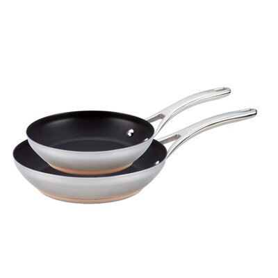 Anolon Nouvelle Stainless Steel 2-Piece Non-Stick Skillet Set