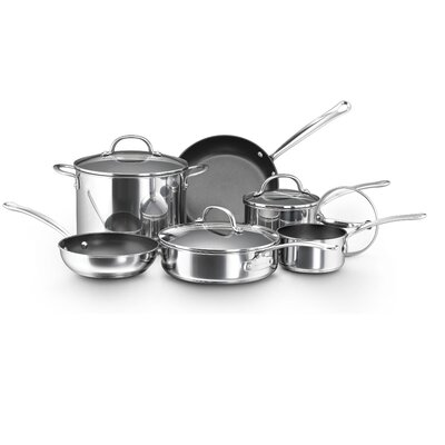 Farberware Millennium Polished Stainless Steel 10-Piece Cookware Set