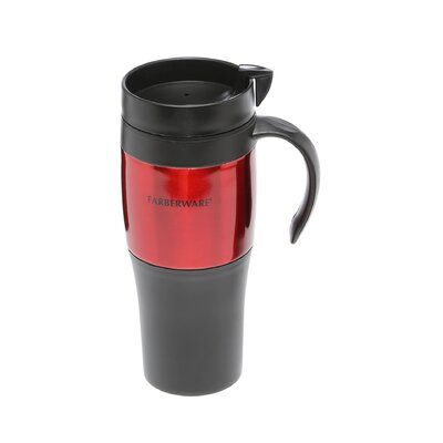 Farberware Travel Mug in Red (Set of 2)