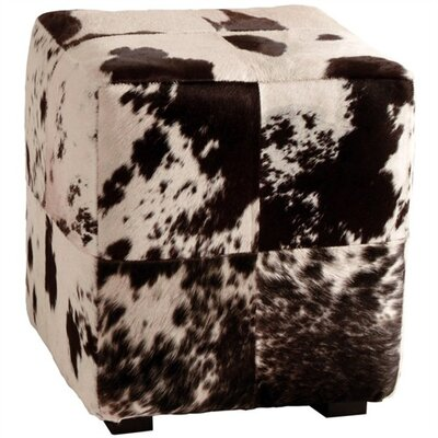 ARTERIORS Home Hugo Patchwork Leather Cube Ottoman