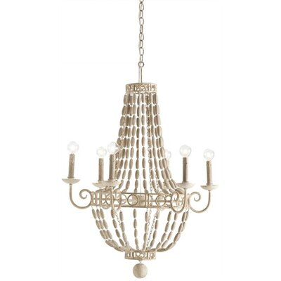 ARTERIORS Home Louis 6 Light Iron / Wood Chandelier