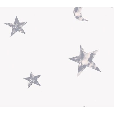 Whimsical Children's Vol. 1 Star Wallpaper in Silver