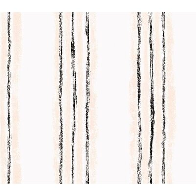 4 Walls Whimsical Children's Vol. 1 Texture Stripe Wallpaper in Black