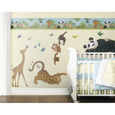 4 Walls Jungle Freestyle Peel and Stick Decal in Bright Green
