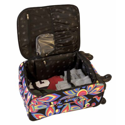 Jenni Chan Wild Flower 360 Quattro 5 Piece Luggage Set