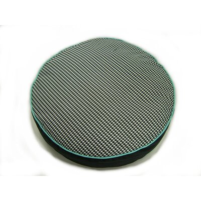 lava Houndstooth Round Pet Bed