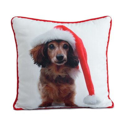 lava Holiday Daschund Pillow