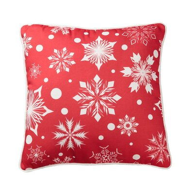 Lava Polka Dot Snowflake Pillow