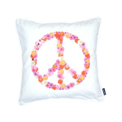 Peace Flowers Feather Filled Pillow