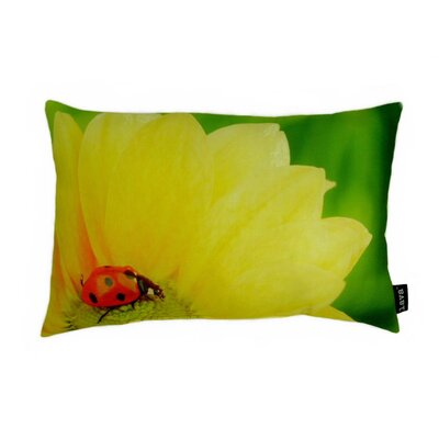 lava Butterfly on Bloom Polyester Pillow