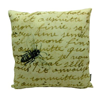 Bee on Note Polyester Pillow