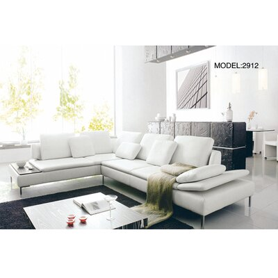 Hokku Designs Tuscany Leather Sectional