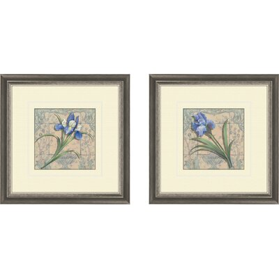 Floral Tile Style Framed Art (Set of 2)