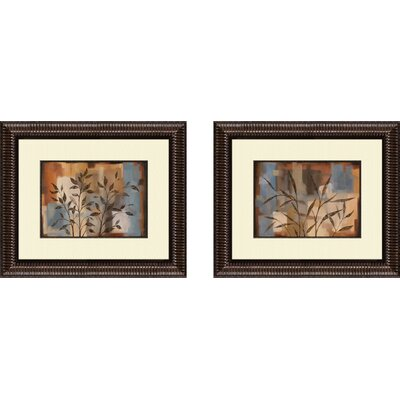 Botanical Abstract Intention Framed Art (Set of 2)