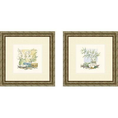 Pro Tour Memorabilia Bath Relaxation Spa Delight Framed Art (Set of 2)