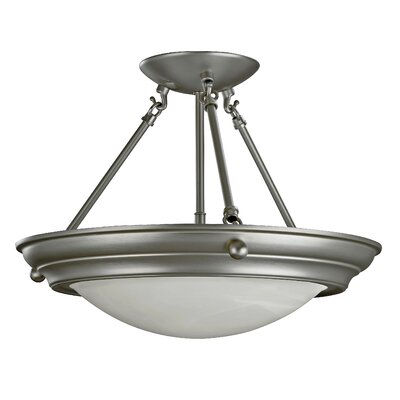 AFX Duomo 2 Light Semi Flush Mount