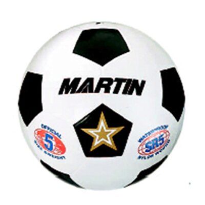 Dick Martin Sports Soccer Ball White Size 4 Rubber