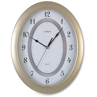 Opal Luxury Time Products Caliber Oval Case Wall Clock in Brown