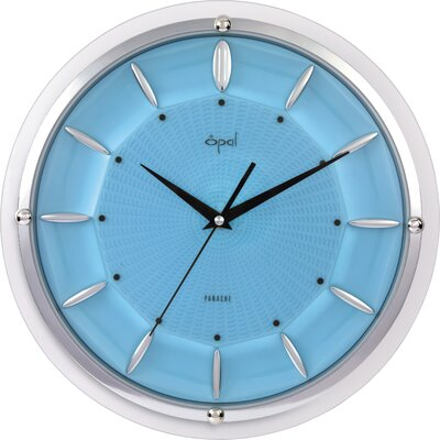 Opal Dome Glass Clock in Sky Blue