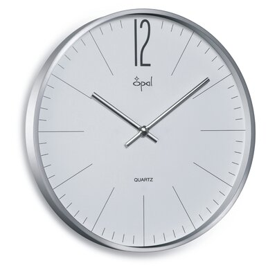 Opal Case Clock in Aluminum