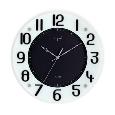 Opal Printed Glass Clock