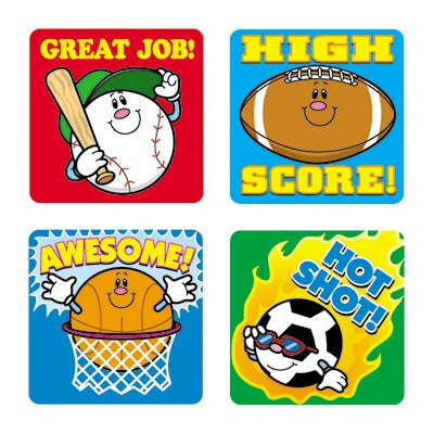 Frank Schaffer Publications/Carson Dellosa Publications Stickers Sports 120/pk Acid &