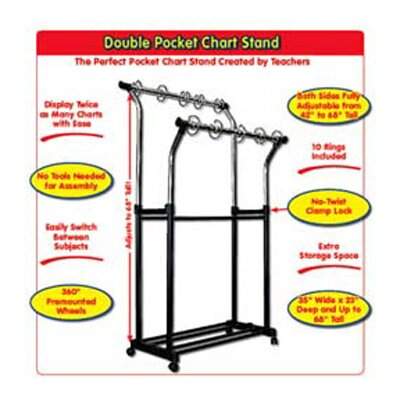 Frank Schaffer Publications/Carson Dellosa Publications Double Pocket Chart Stand &