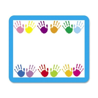 "Frank Schaffer Publications/Carson Dellosa Publications Name Tags, Handprints, 3""x2-1/2"", 40 per Pack"