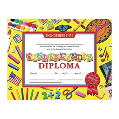 Hayes School Publishing Diplomas Kindergarten 30 Pk