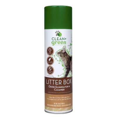 Clean+Green Litter Box Odor and Stain Remover