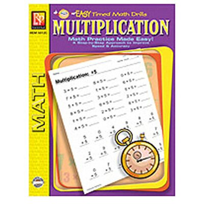 Remedia Publications Multiplication Easy Timed Math