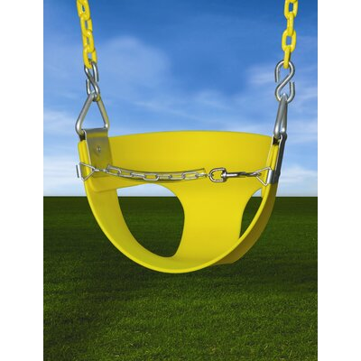 Gorilla Playsets Half Bucket Swing  in Yellow