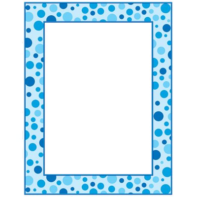 Teachers Friend Blue Polka Dots Printer Paper