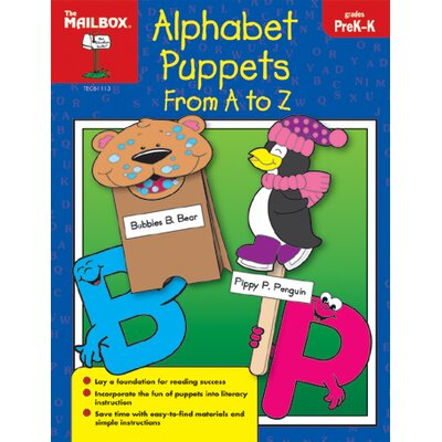 The Education Center Alphabet Puppets From A To Z Prek-k