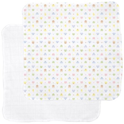 i play. Receiving Blanket in Animal / White (2-Pack)