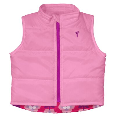 i play. Winter Wear Waterproof Insulated Vest in Pink Floral