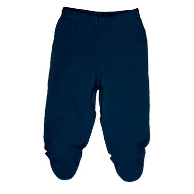 i play. Organically Grown Footie Pants in Navy