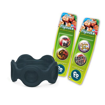 Wild Creations Flipoutz Bracelet with One Coin and Two Additional Coin Pack in Black