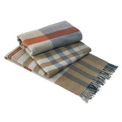 Lands Downunder Italian Lambswool Plaid Throw