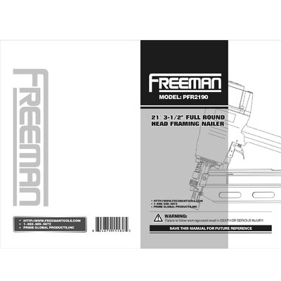 Freeman 21° Framing Nailer