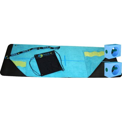Stick-E Yoga Hot Yoga Bundle in Blue Towel