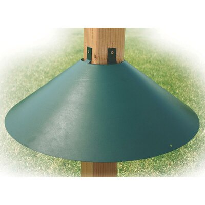 Audubon/Woodlink Post Mount Squirrel Baffle in Green