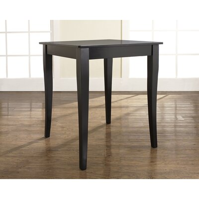 Crosley Cabriole Leg Pub Table in Black